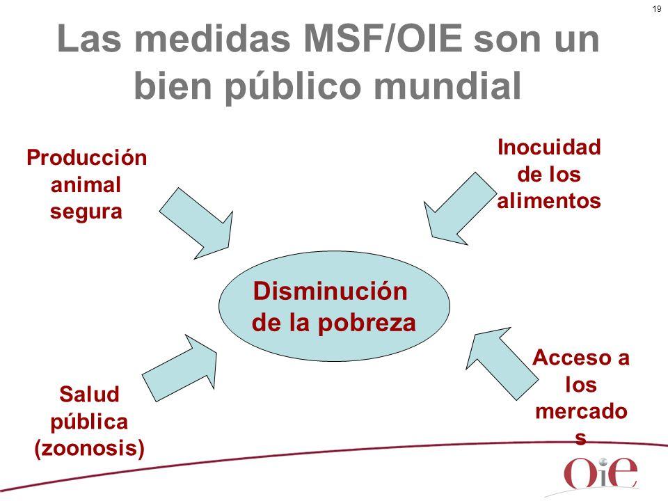 Las medidas MSF/OIE son un bien público mundial