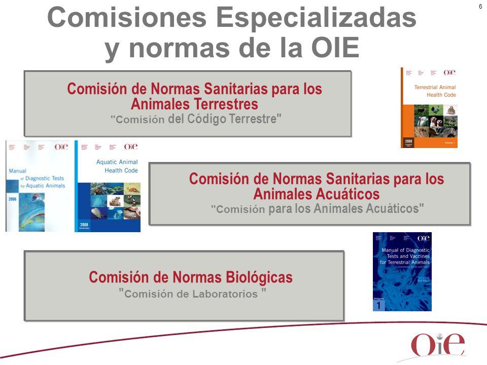 Comisiones Especializadas y normas de la OIE