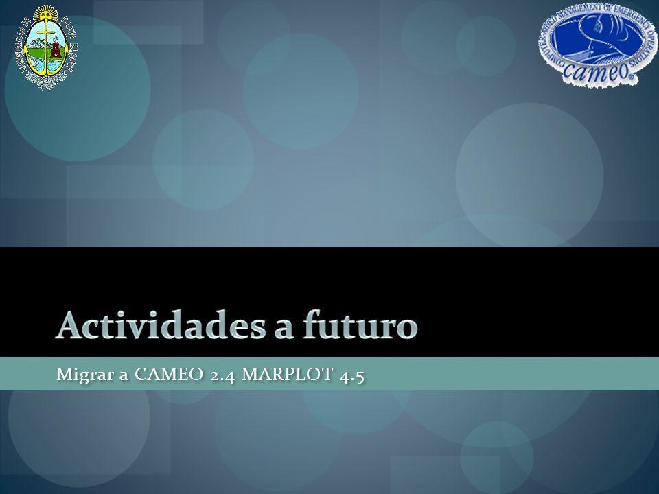 Actividades a futuro Migrar a CAMEO 2.4 MARPLOT 4.5