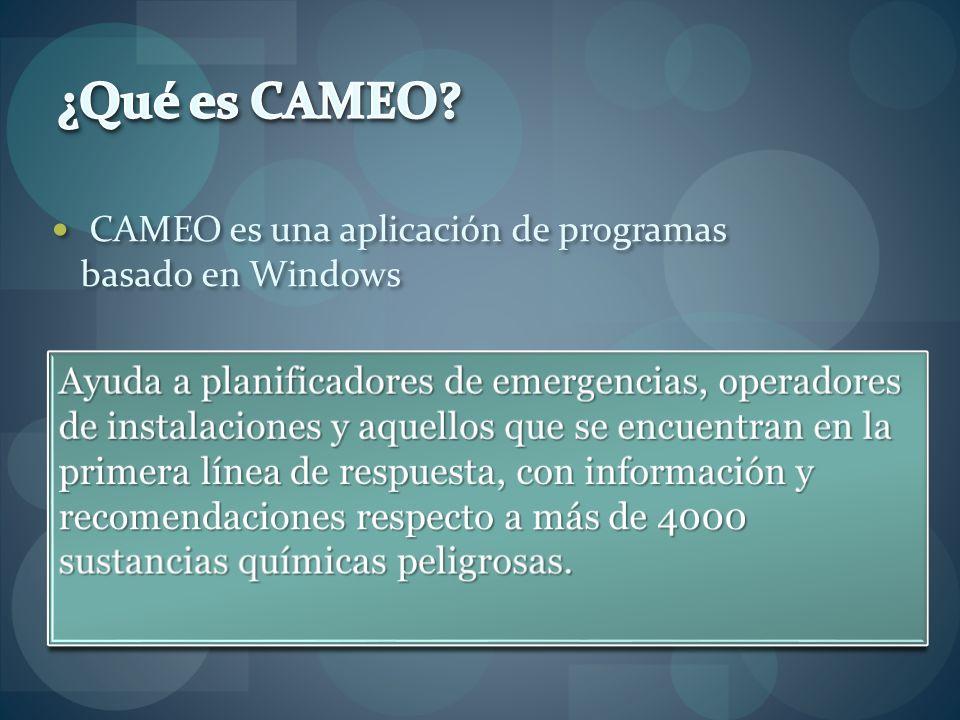 ¿Qué es CAMEO CAMEO es una aplicación de programas basado en Windows