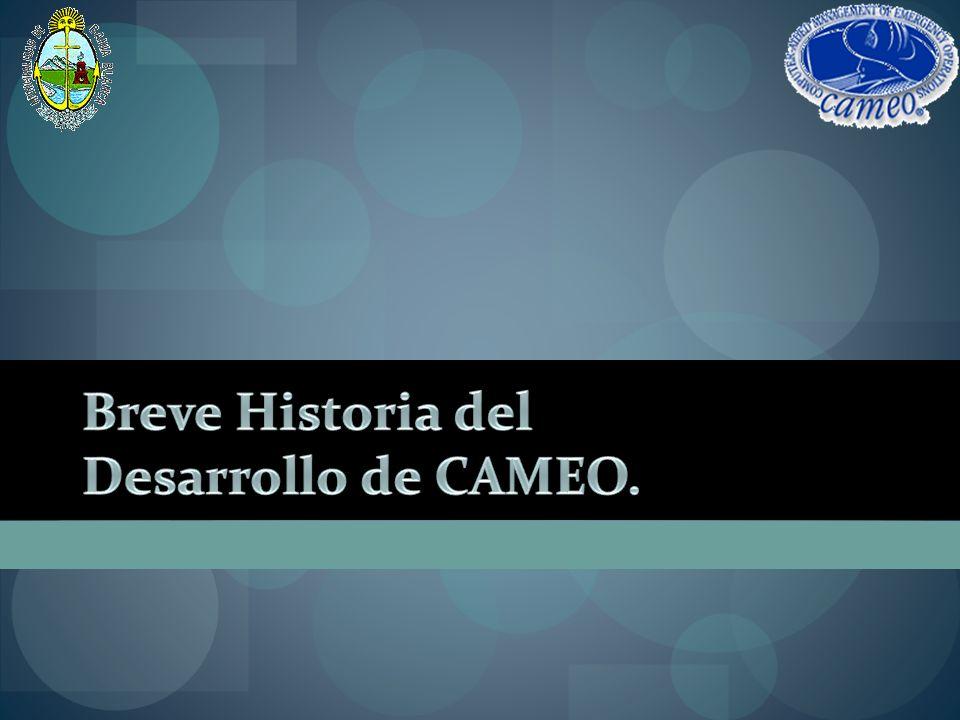 Breve Historia del Desarrollo de CAMEO.