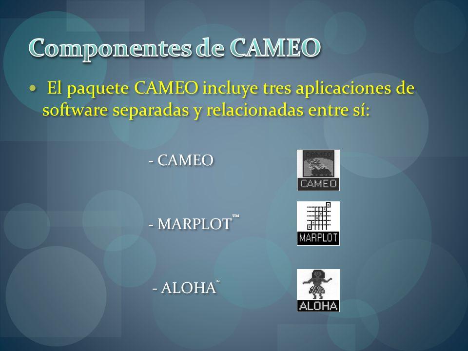 Componentes de CAMEO El paquete CAMEO incluye tres aplicaciones de software separadas y relacionadas entre sí: