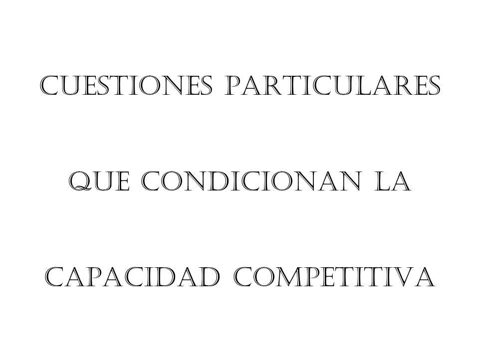 CUESTIONES PARTICULARES
