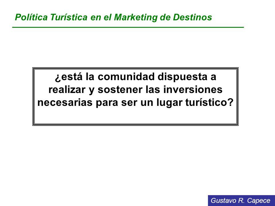 Política Turística en el Marketing de Destinos