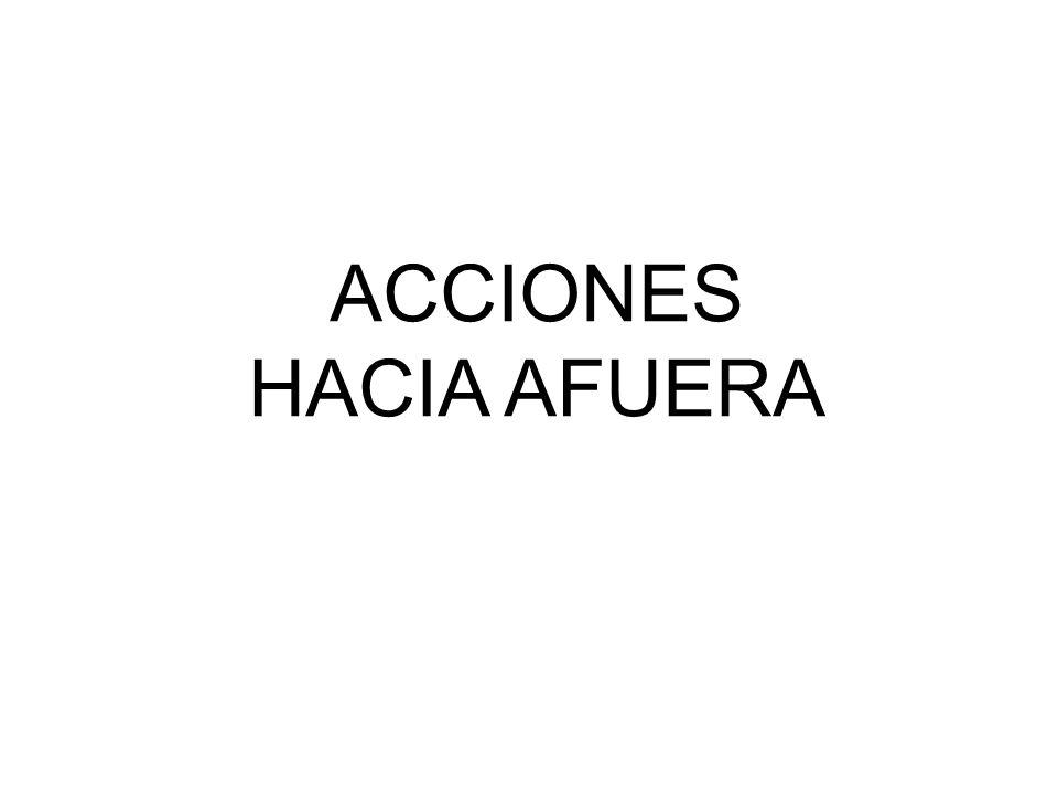 ACCIONES HACIA AFUERA