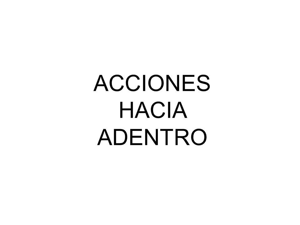 ACCIONES HACIA ADENTRO