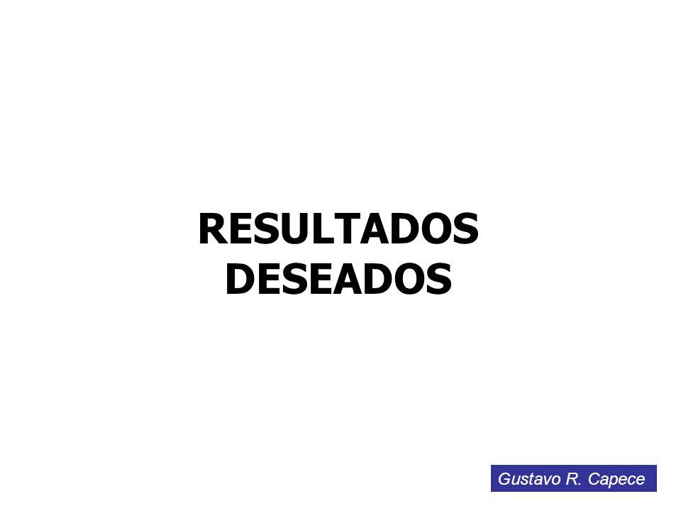 RESULTADOS DESEADOS Gustavo R. Capece