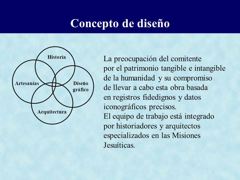 Concepto de diseño La preocupación del comitente