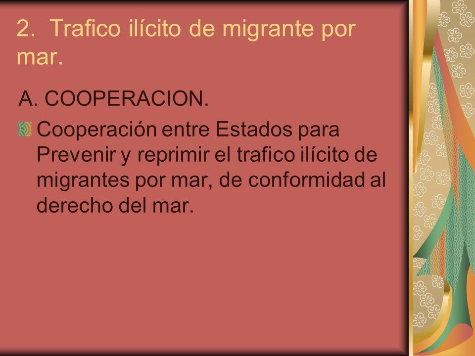 2. Trafico ilícito de migrante por mar.