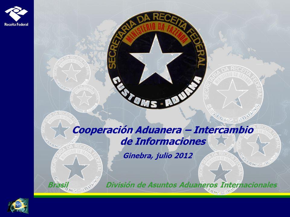 Cooperación Aduanera – Intercambio de Informaciones
