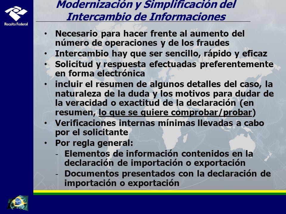 Modernización y Simplificación del Intercambio de Informaciones