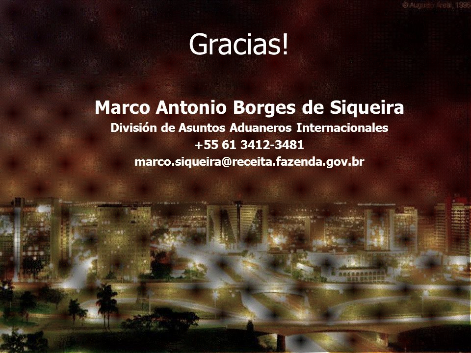 Gracias! Marco Antonio Borges de Siqueira