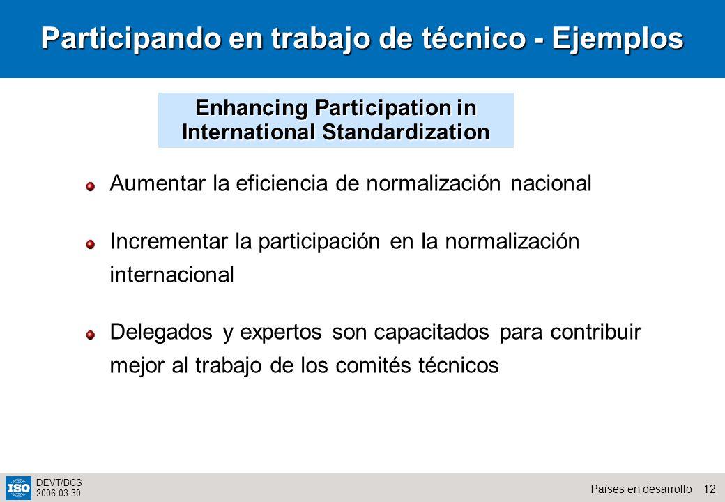 Participando en trabajo de técnico - Ejemplos