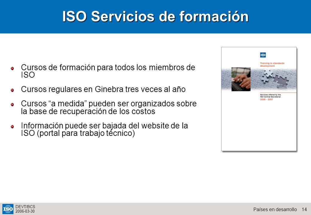 ISO Servicios de formación