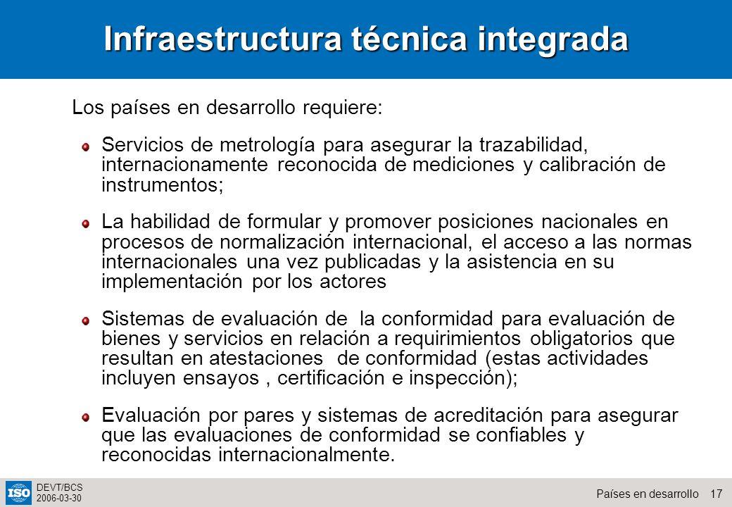 Infraestructura técnica integrada