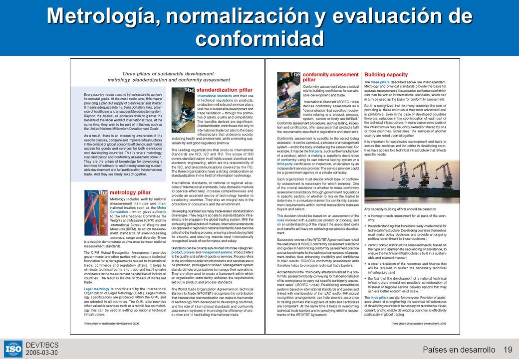 Metrología, normalización y evaluación de conformidad