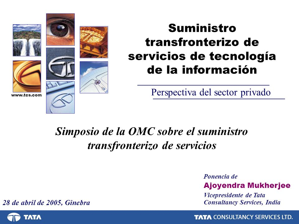 Simposio de la OMC sobre el suministro transfronterizo de servicios