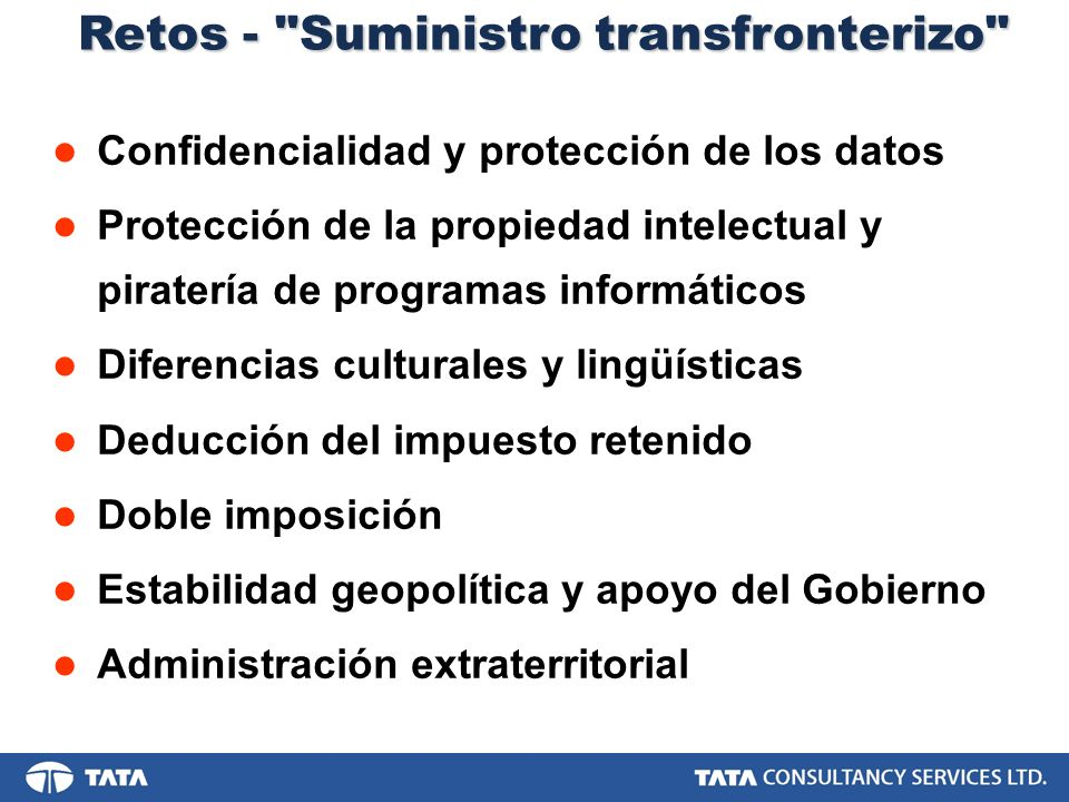 Retos - Suministro transfronterizo