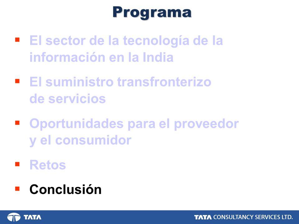 Programa El sector de la tecnología de la información en la India