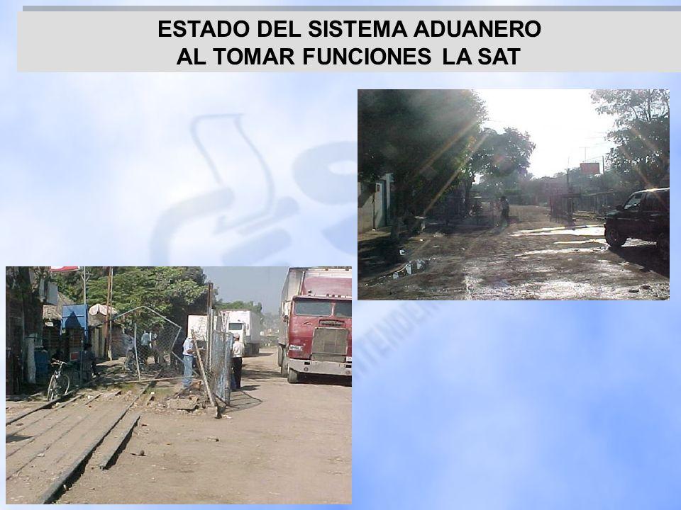 ESTADO DEL SISTEMA ADUANERO AL TOMAR FUNCIONES LA SAT