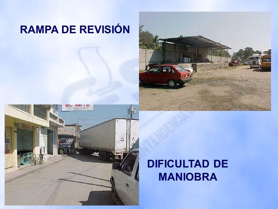 RAMPA DE REVISIÓN DIFICULTAD DE MANIOBRA