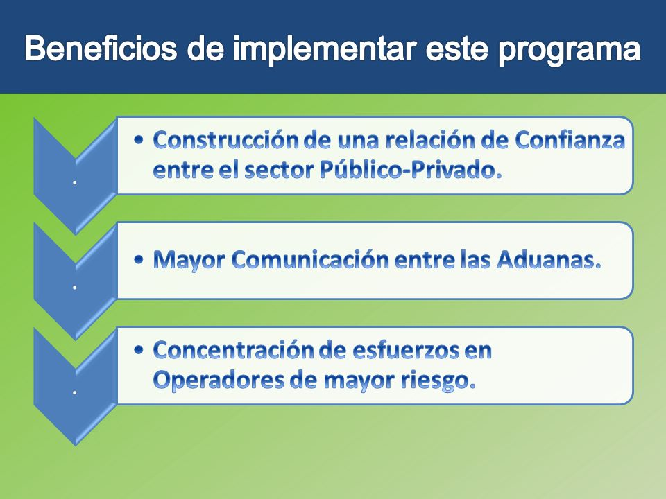 Beneficios de implementar este programa