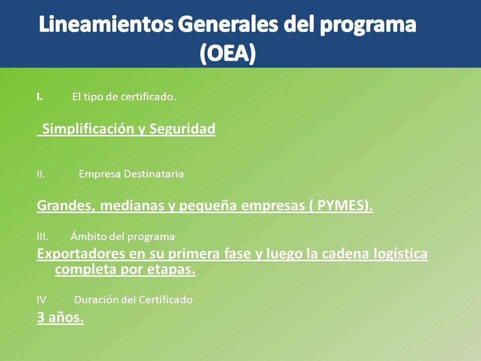 Lineamientos Generales del programa (OEA)