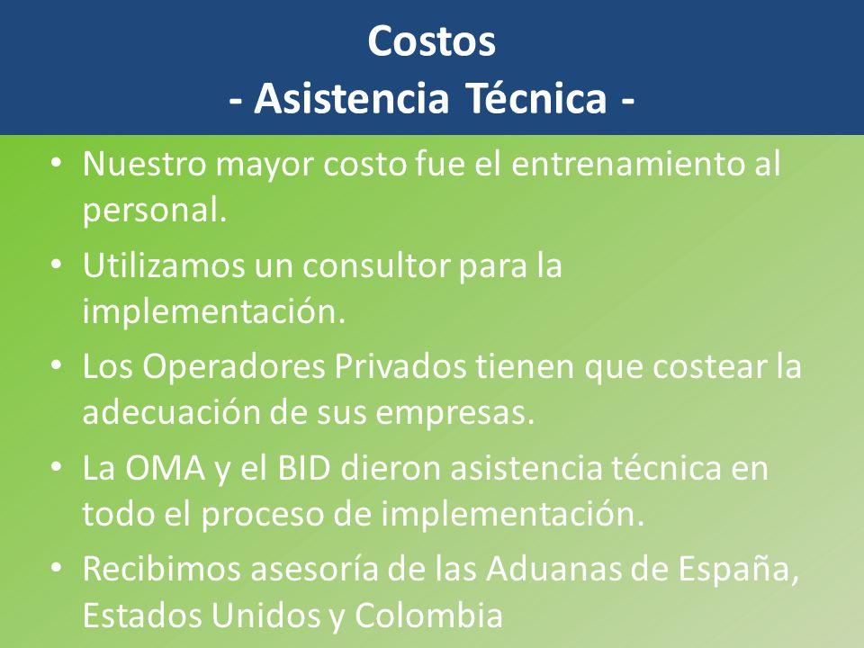 Costos - Asistencia Técnica -