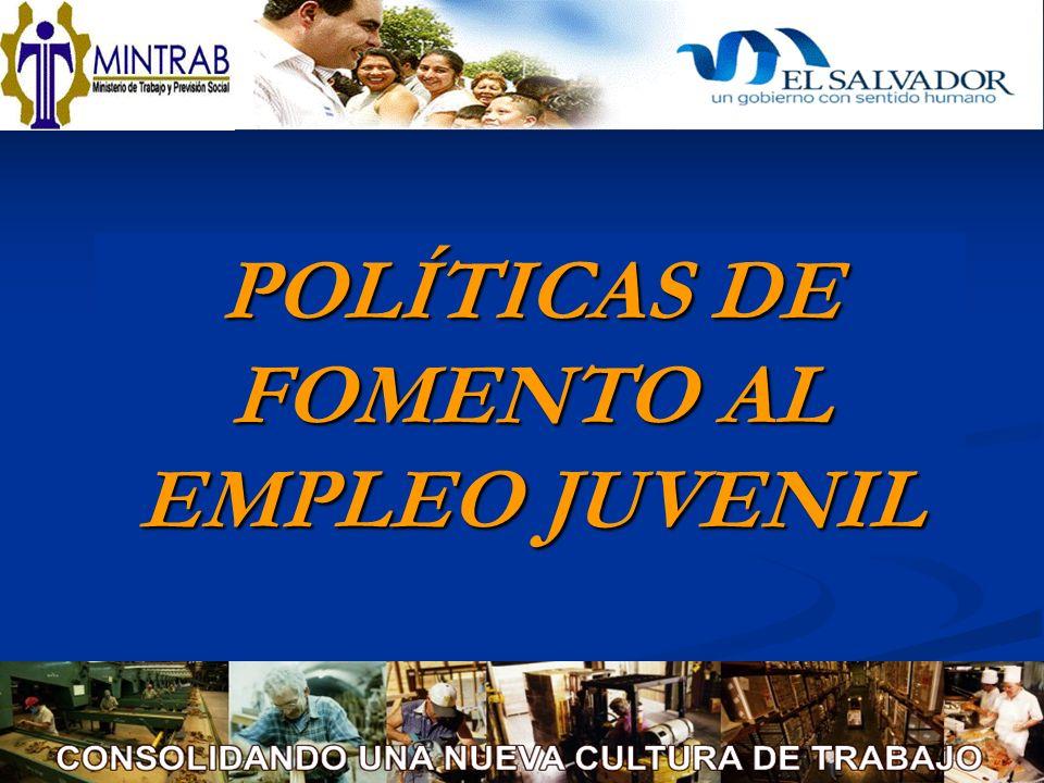 POLÍTICAS DE FOMENTO AL EMPLEO JUVENIL
