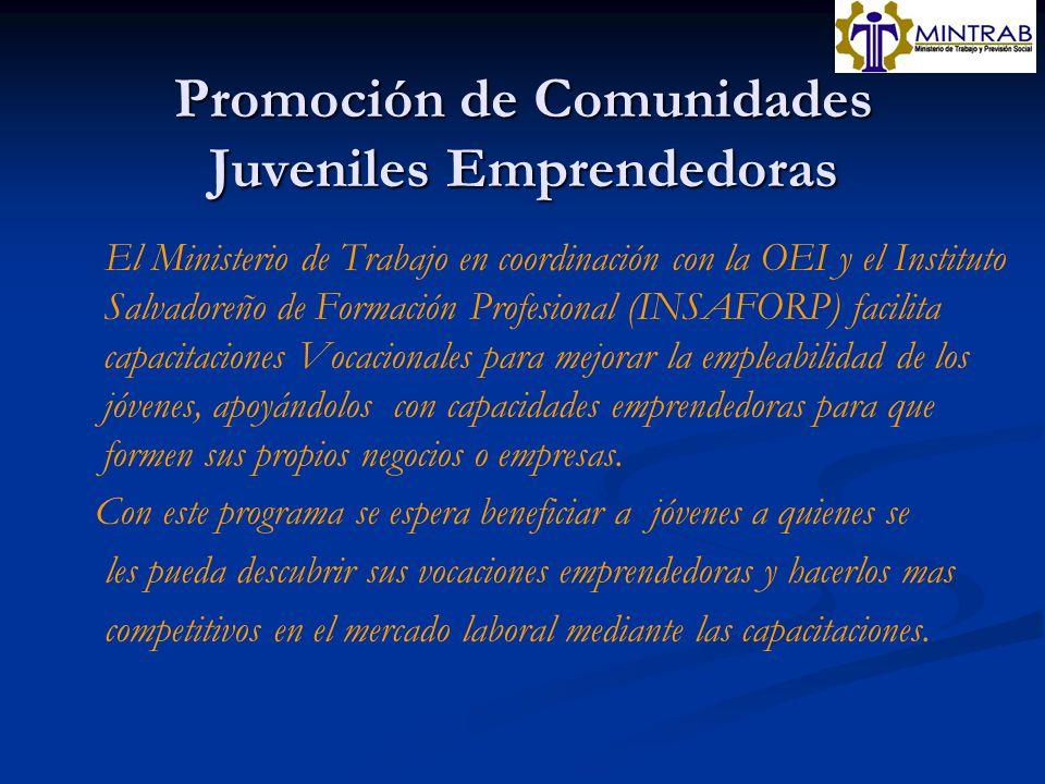 Promoción de Comunidades Juveniles Emprendedoras
