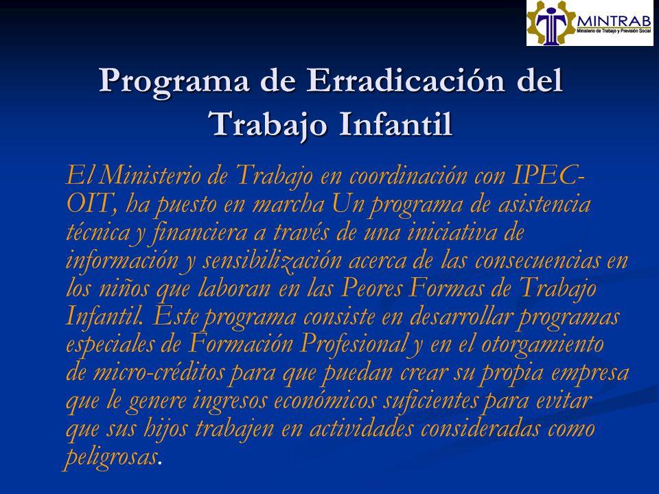 Programa de Erradicación del Trabajo Infantil