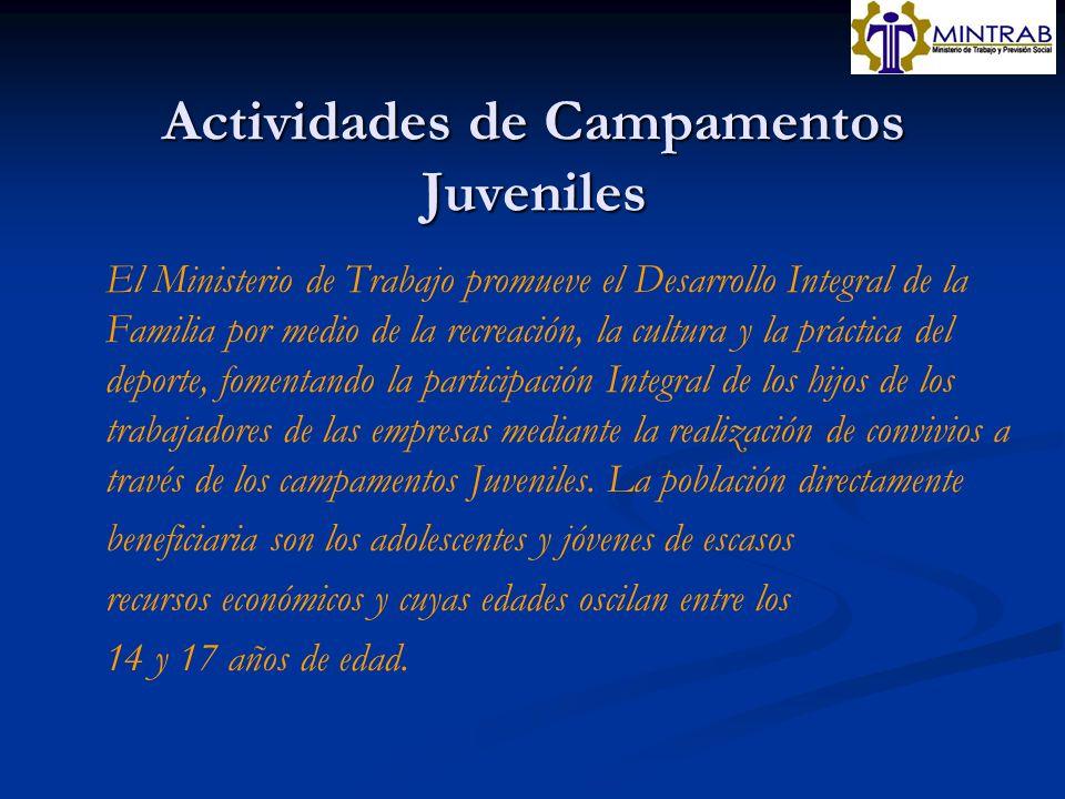 Actividades de Campamentos Juveniles
