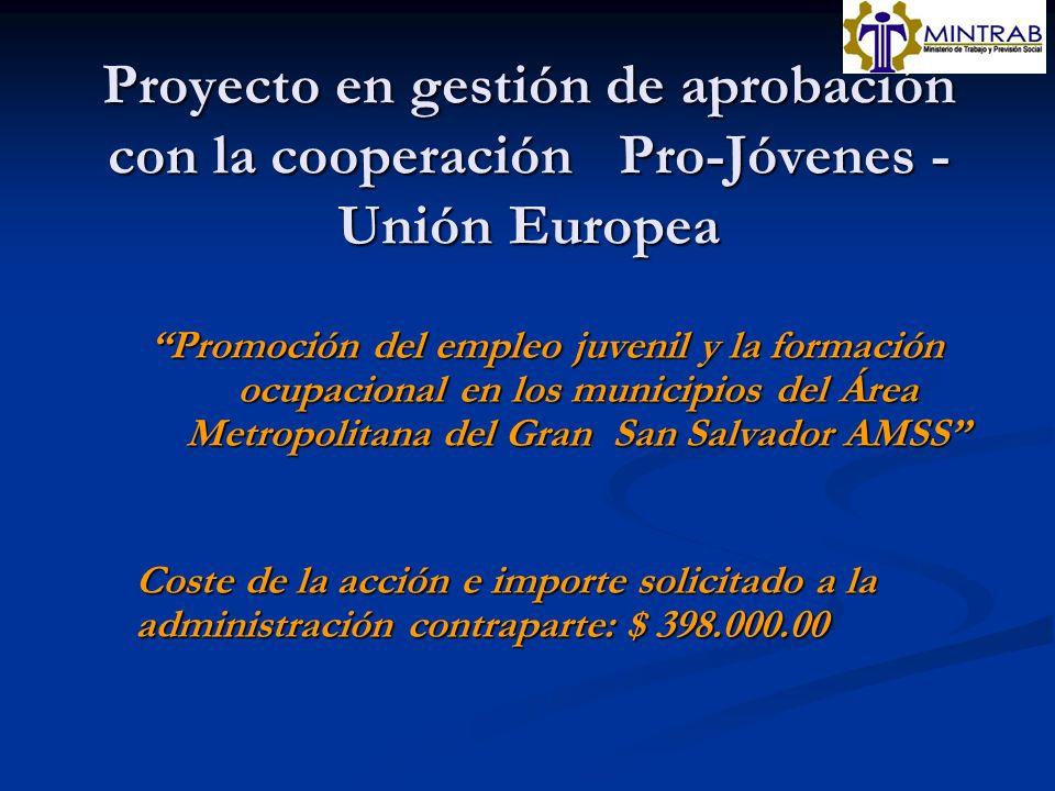 Proyecto en gestión de aprobación con la cooperación Pro-Jóvenes - Unión Europea