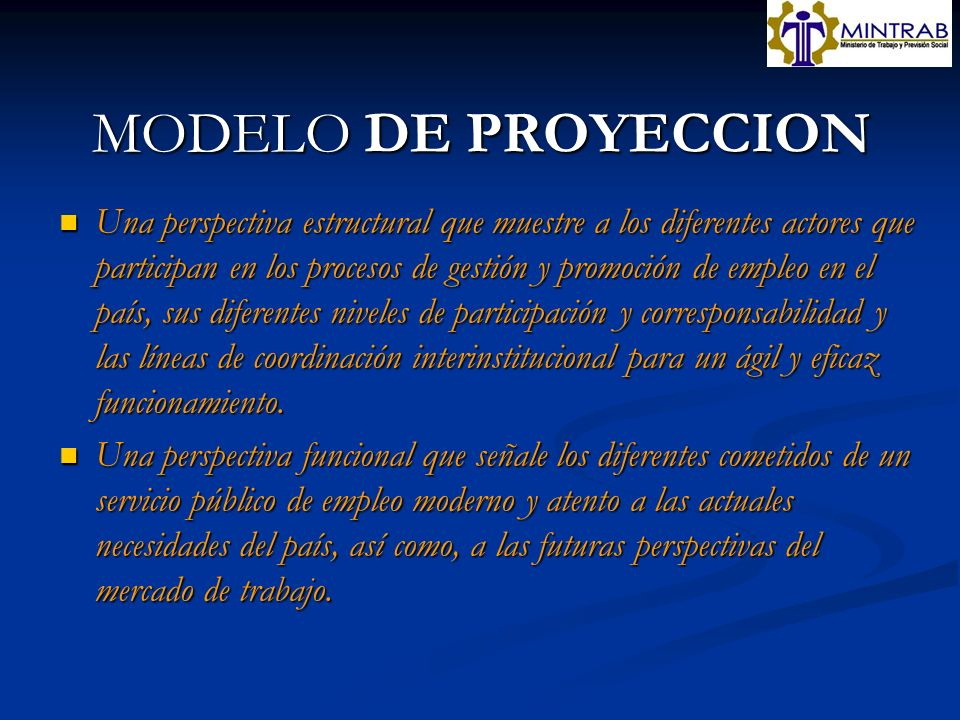 MODELO DE PROYECCION