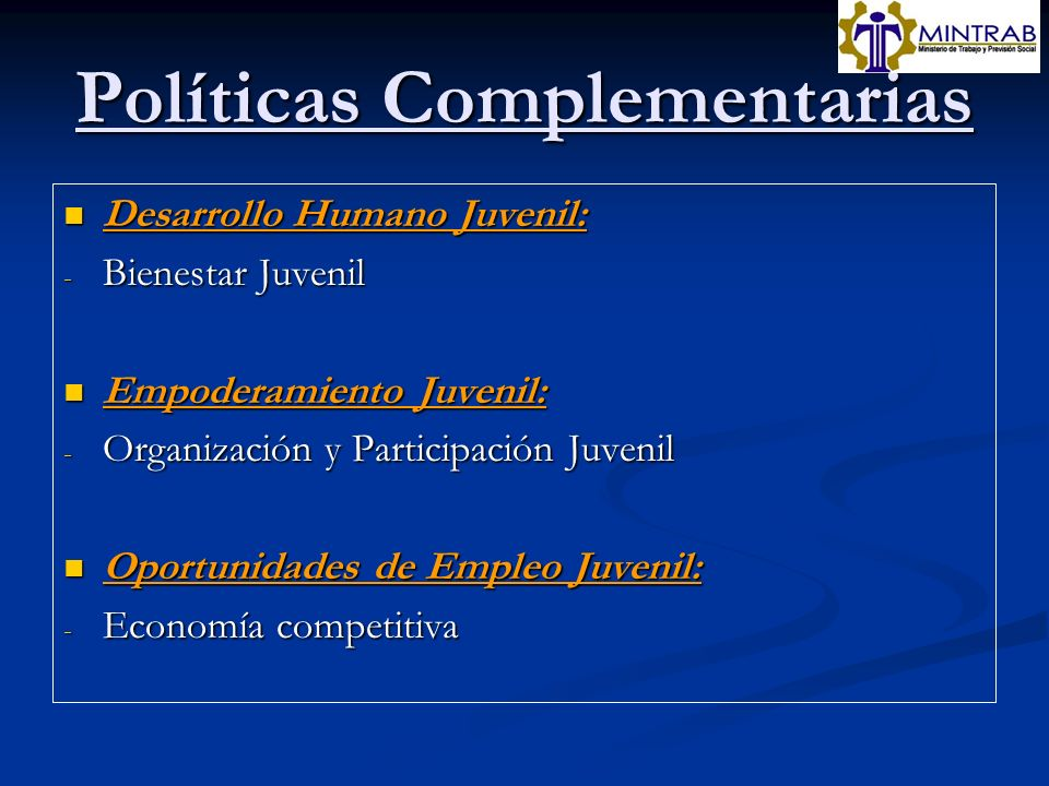 Políticas Complementarias