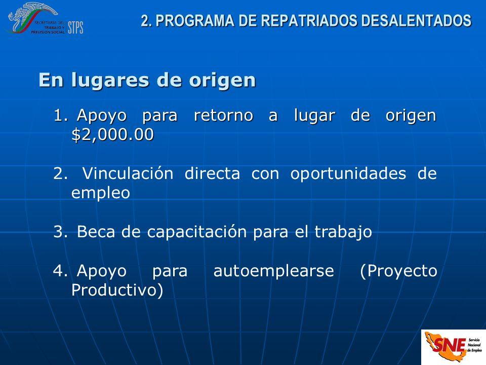 2. PROGRAMA DE REPATRIADOS DESALENTADOS