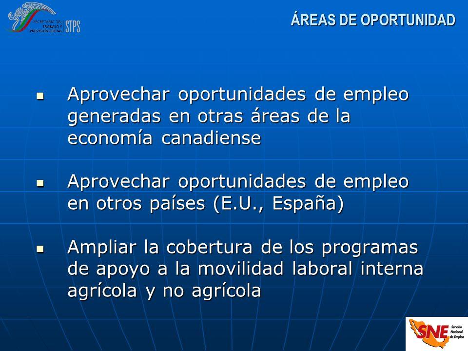 Aprovechar oportunidades de empleo en otros países (E.U., España)