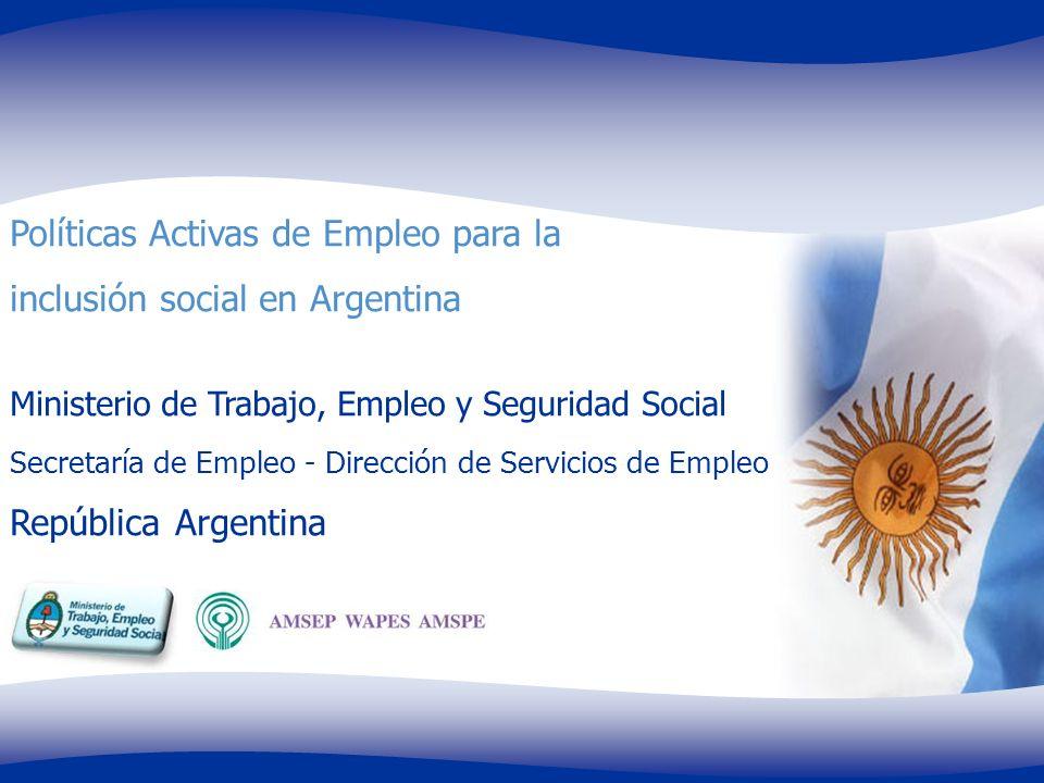 Políticas Activas de Empleo para la inclusión social en Argentina