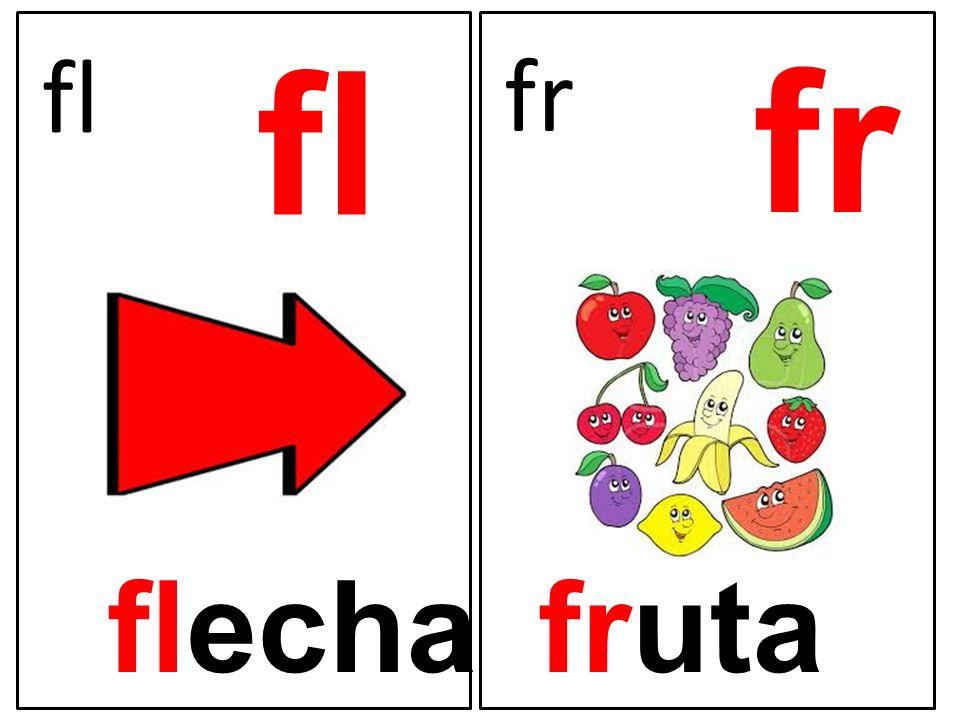 fl fr fl fr flecha fruta