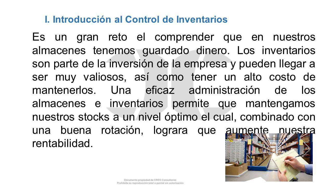 I. Introducción al Control de Inventarios