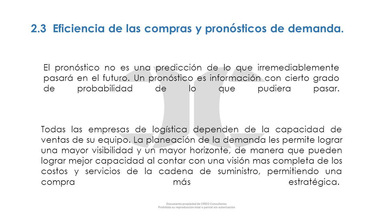 2.3 Eficiencia de las compras y pronósticos de demanda.