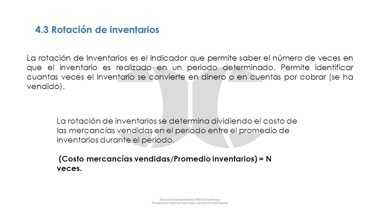 4.3 Rotación de inventarios
