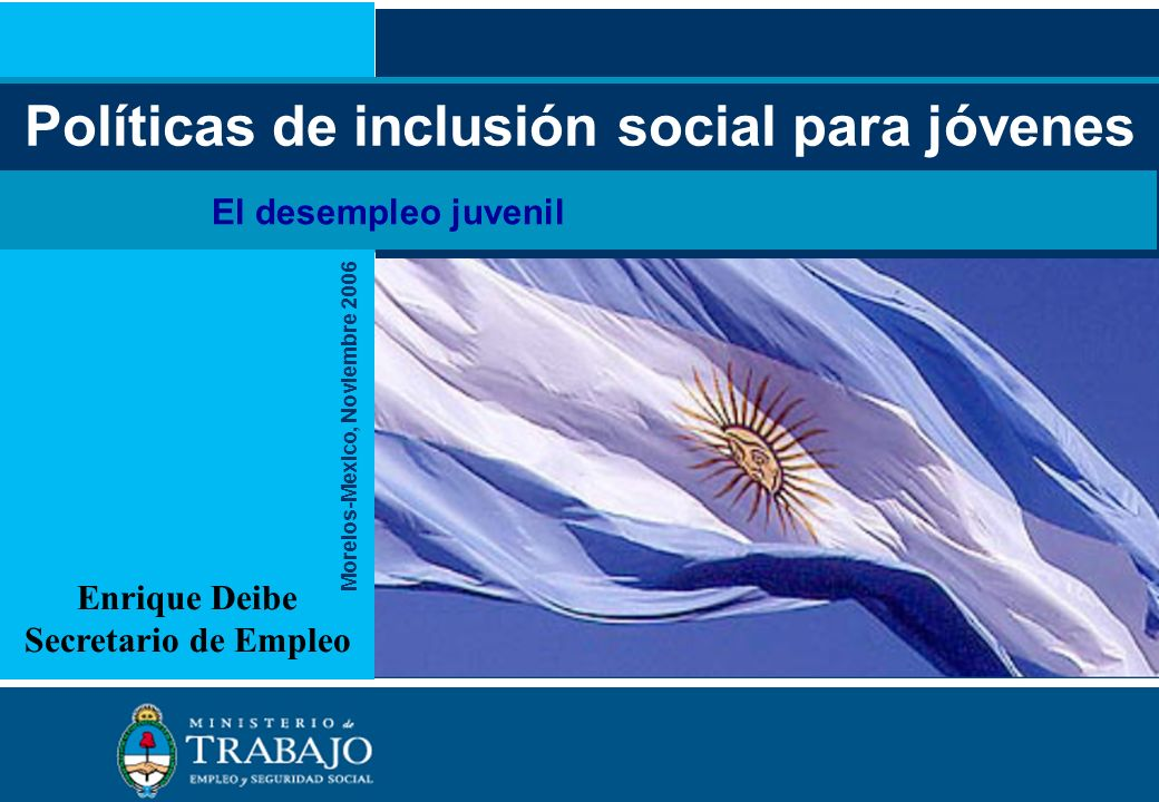 Políticas de inclusión social para jóvenes