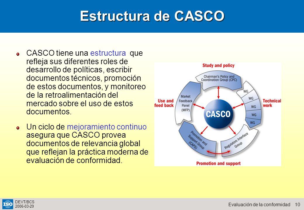 Estructura de CASCO