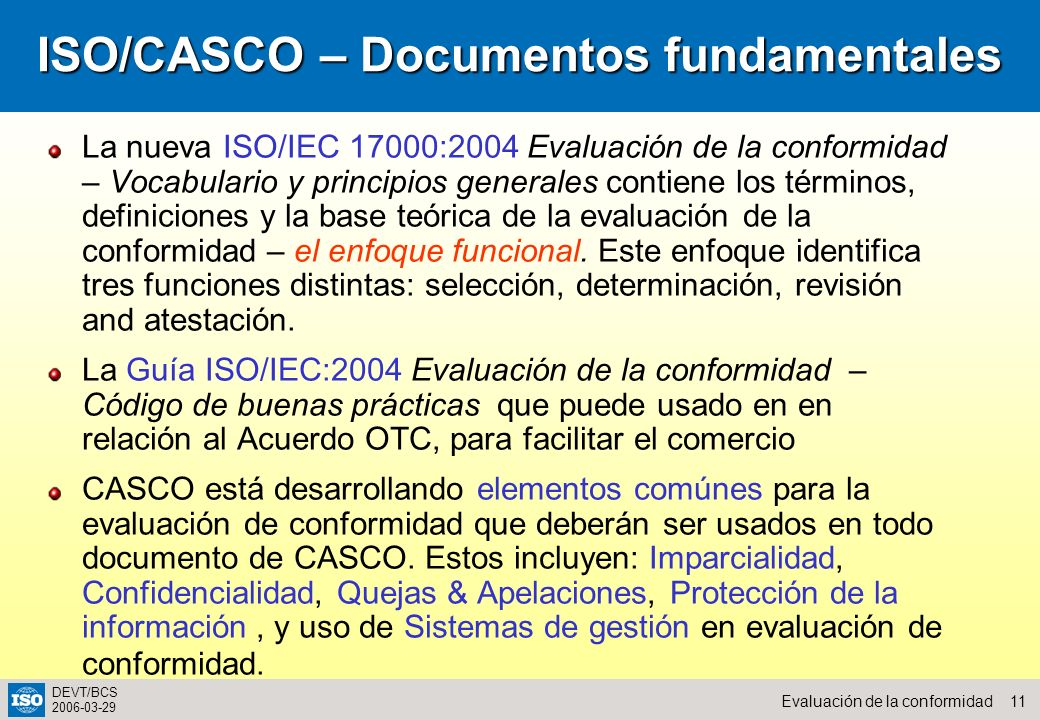 ISO/CASCO – Documentos fundamentales