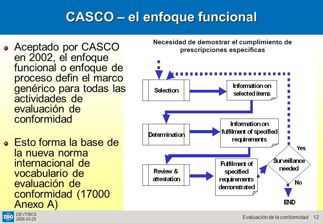 CASCO – el enfoque funcional