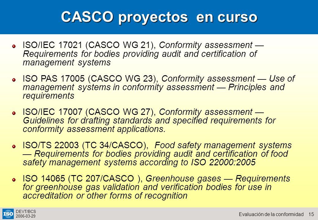 CASCO proyectos en curso