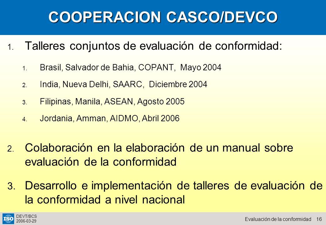 COOPERACION CASCO/DEVCO