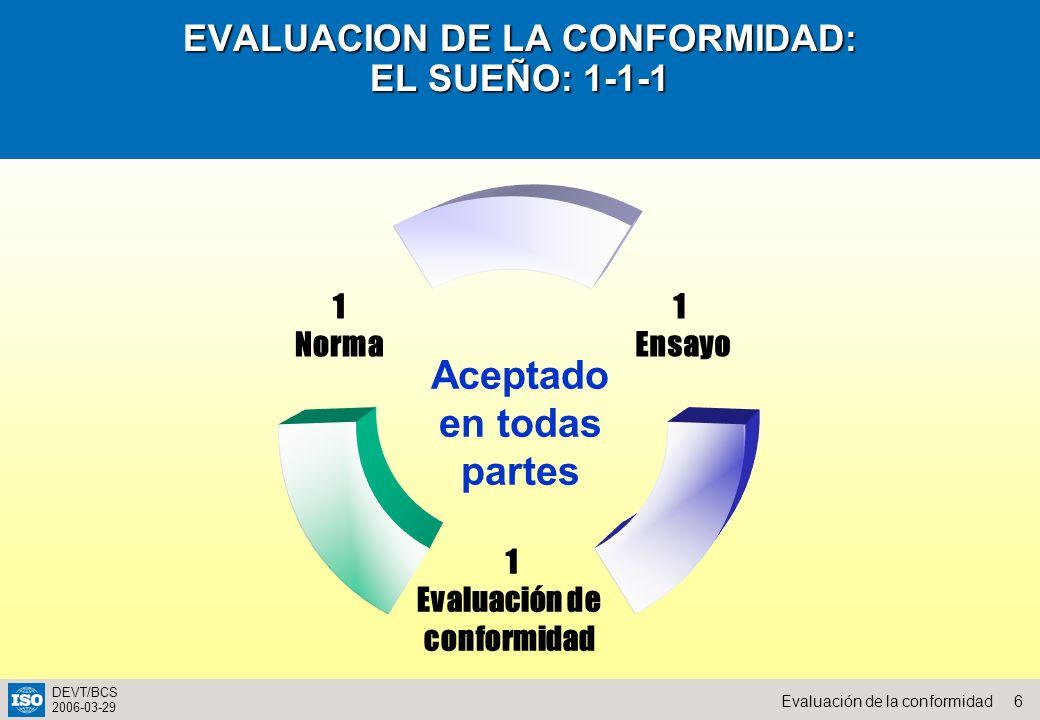 EVALUACION DE LA CONFORMIDAD: EL SUEÑO: 1-1-1