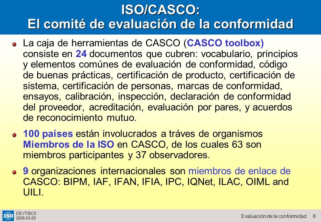 ISO/CASCO: El comité de evaluación de la conformidad